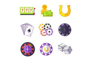 Set of Gambling Accessories