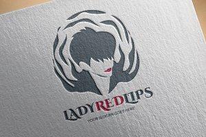 Short Hair Lady Logo