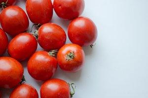 organic tomatoes. Fresh tomatoes.
