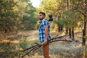 Lumberjack with an ax