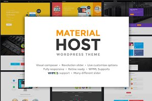 Host Material - Hosting WP Theme