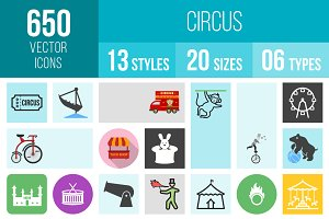 650 Circus Icons
