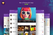 Restaurant iOS App freebie ui kit  by Divan Raj in OpenCart