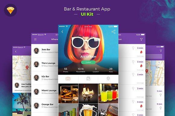 Restaurant iOS App freebie ui kit
