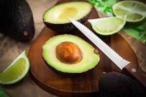Sliced fresh avocado
