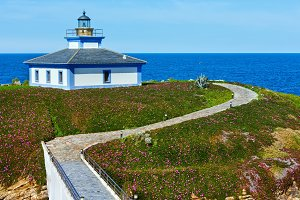 Lighthouse on Island Pancha, Spain