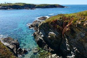 Island Pancha coastline ( Spain).