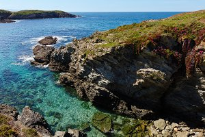 Island Pancha coastline ( Spain).
