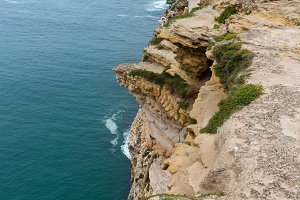 Lighthouse near Nazare (Portugal).