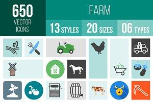 650 Farm Icons