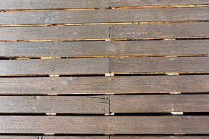 Wooden decking as background.