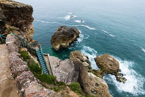 Sea rocky coast (Portugal).