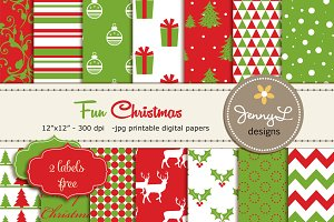 Fun Christmas Digital Papers