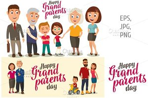 Grandparents , parents, childs. Day