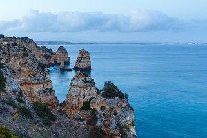 Evening Atlantic rocky coastline