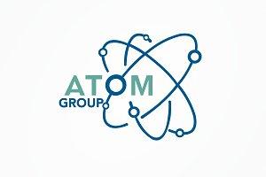Atom Group Logo Template
