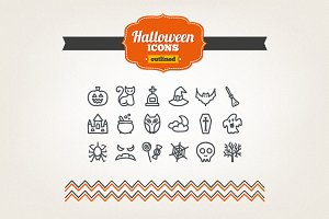 Hand drawn Halloween icons