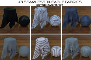 43 Seamless Tileable Fabric Shaders