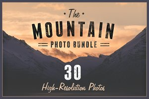 Mountain Photo Bundle (30 Photos)