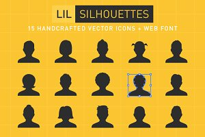 Lil Silhouettes Icon & Font