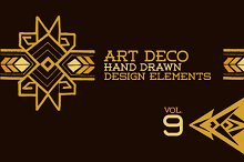 43 Hand Drawn Art Deco Elements Vol9