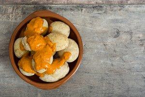 Canarian food (papas arrugadas)