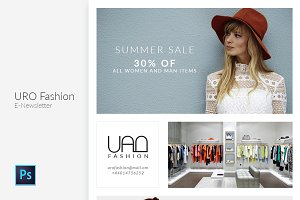 Uro Fashion Email Newsletter