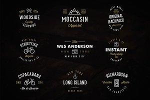 9 New Vintage Logos & Bonus Mockup!