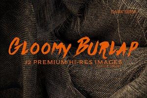 Gloomy Burlap v1 Dark Sepia