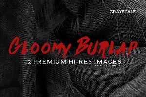 Gloomy Burlap _ Grayscale