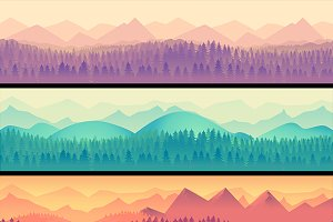 Nature landscape Set