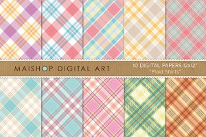 Digital Papers-Plaid Shirts