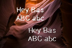 Hey Bas + Hey Bas Uncrossed 2 fonts