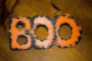Halloween Boo Sign