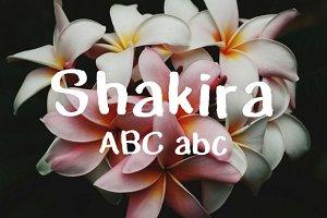 Shakira Typeface