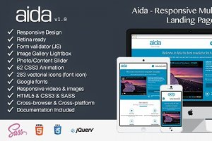 Aida - Responsive Landing Page
