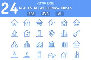 Houses and real estate Icons Set