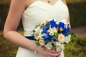 colorful wedding bridal bouquet