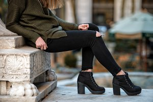 Women fall outfit street style