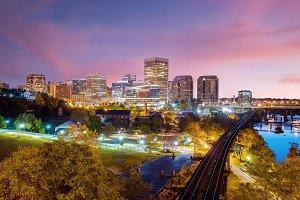 Downtown Richmond sunset