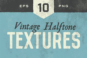 Halftone Textures - 10 Pack