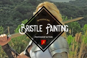 Bristle Painting Photoshop Action