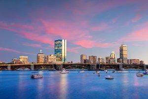 Boston at twilight