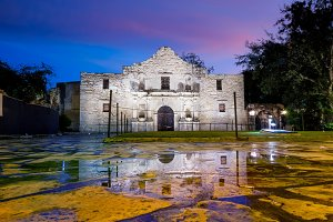Alamo, San Antonio sunset