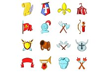 The middle ages icons set