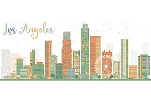 Abstract Los Angeles Skyline