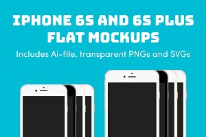 iPhone 6S and 6S Plus Flat Mockups