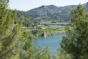 Landscape by the river ebro