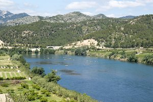 Canoeing by the river Ebro