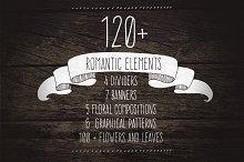 120+ Romantic Elements EPS, PNG, JPG